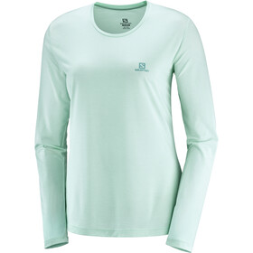 Salomon Agile Camiseta Manga Larga Mujer, icy morn/wht/heather